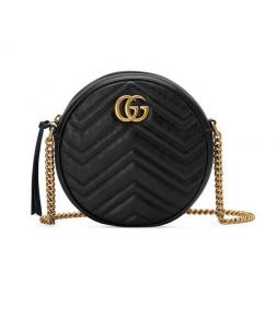 Gucci Marmont Mini Round Shoulder Bag